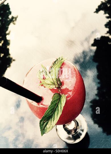 Frozen strawberry Margarita - Stock Image