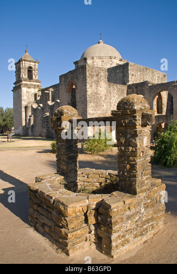 San Antonio Missions, San Jose (AKA San Jose y San Miguel de Aguayo), State Historic Site - Stock Image