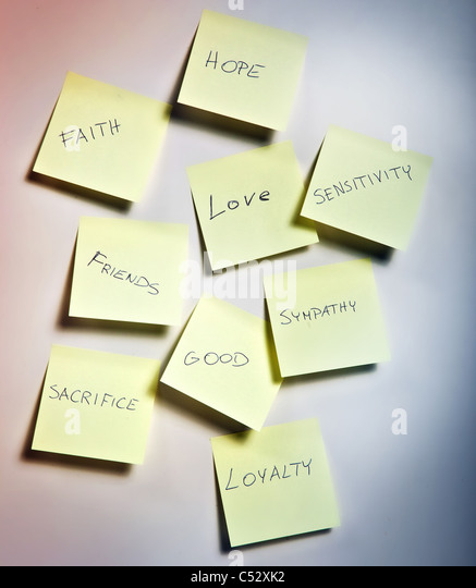 note papers with emotions - Stock Image