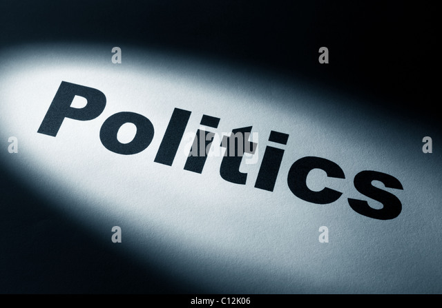 light and word of politics for background - Stock Image