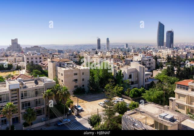 Amman city view, in Jordan - Stock Image