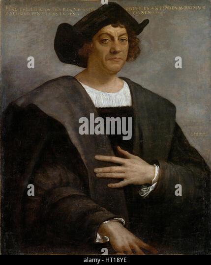 Portrait of Christopher Columbus, 1519. Artist: Piombo, Sebastiano, del (1485-1547) - Stock-Bilder