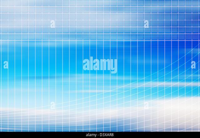 sky grid - Stock-Bilder