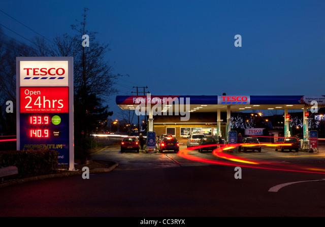 Tesco night stock photos tesco night stock images alamy - Esso garage opening times ...