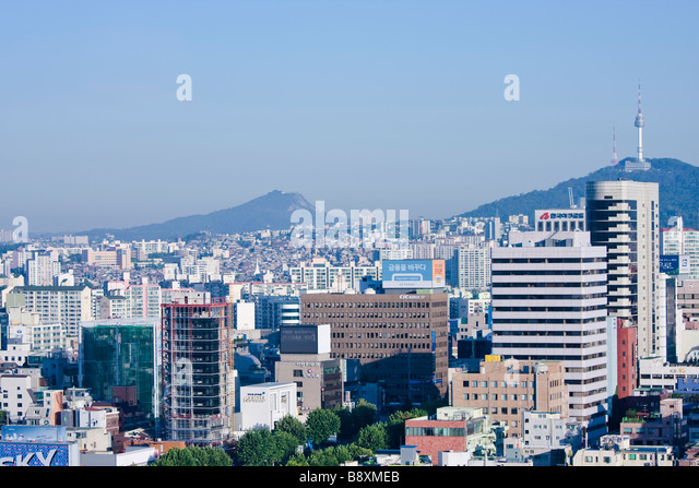 Downtown Seoul, South Korea - Stock Image