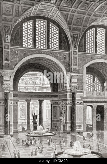 Baths Of Caracalla Stock Photos & Baths Of Caracalla Stock ... Baths Of Caracalla Reconstruction