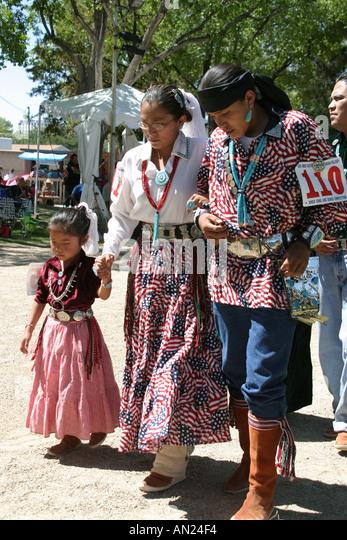 Albuquerque New Mexico State Fair Navajo Native Americans Indian Village T - Stock Image