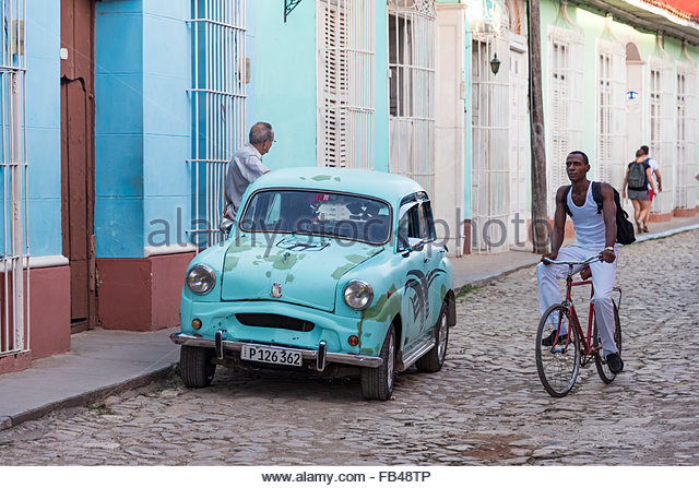 Trinidad de Cuba, everyday lifestyle in the Hispanic colonial village which is stopped in time as a living museum - Stock-Bilder