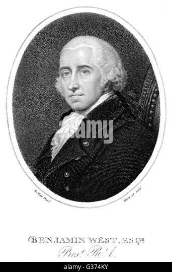 BENJAMIN WEST American artist         Date: 1738 - 1820 - Stock Image