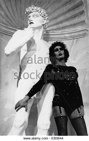 THE ROCKY HORROR PICTURE SHOW (1975) - Tim Curry in a still from the 1975 cult science fiction musical film - Stock Image