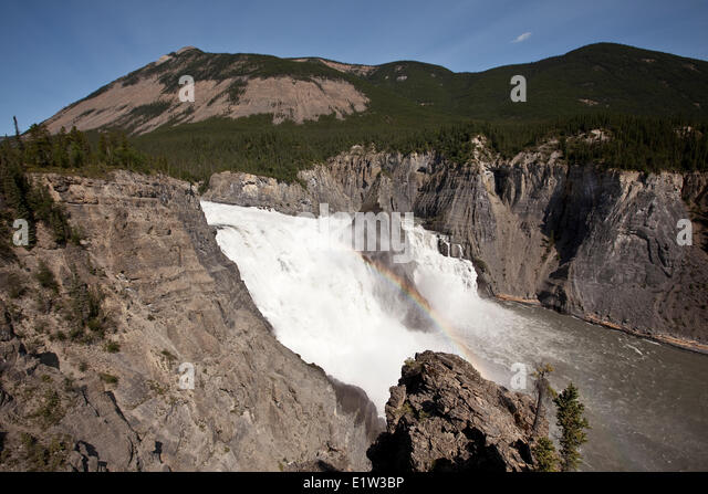 Virginia Falls, Nahanni National Park Preserve, NWT, Canada. - Stock Image