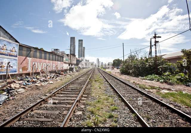 Railway tracks, Buenos Aires, Argentina - Stock Image