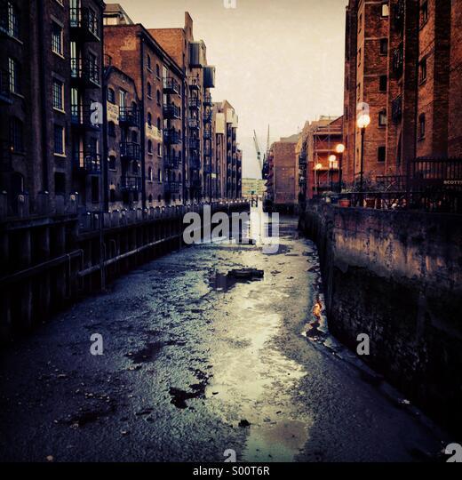 St Saviours dock, London - Stock Image