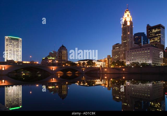 Columbus & Scioto River, Ohio, USA - Stock-Bilder