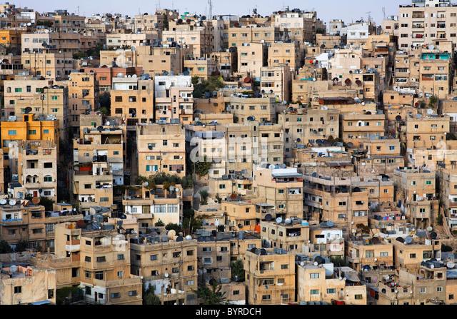 Buildings in the city of Amman, Jordan - Stock Image