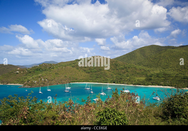 Caribbean, US Virgin Islands, St. John, Virgin Islands National Park, Maho Bay - Stock-Bilder