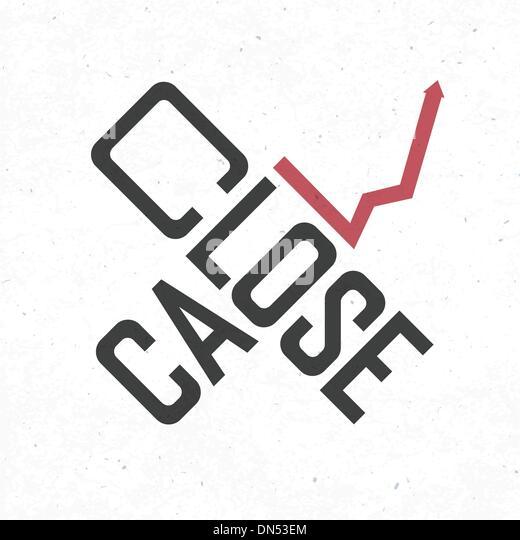 Close call phrase. Risky business concept, vector, EPS10 - Stock Image