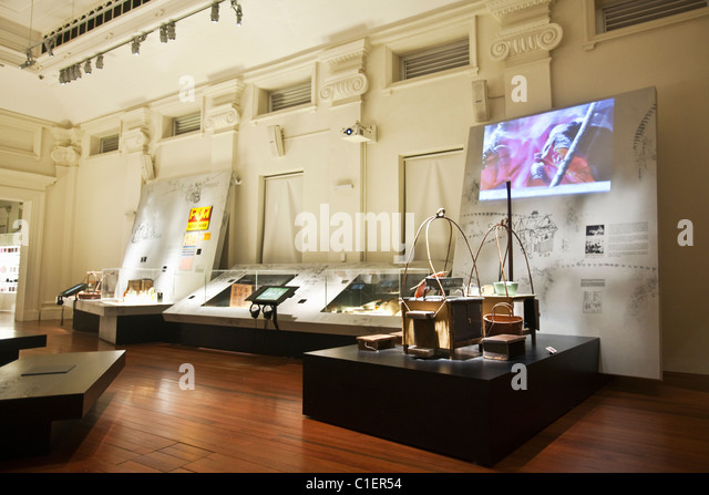 'Eating on the Street' exhibition in the 'Food' Living Gallery.   National Museum of Singapore, - Stock Image