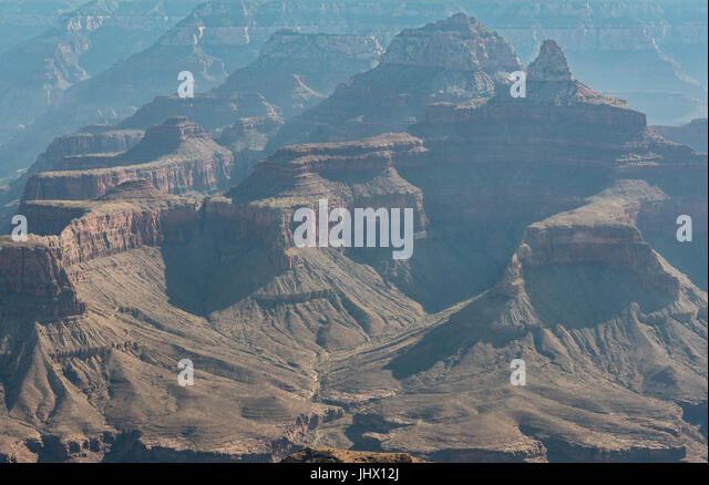Details of Hoodoos in Grand Canyon on a hot summer day - Stock Image