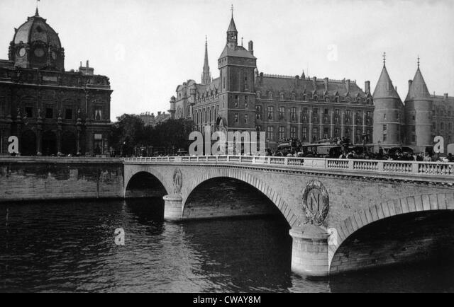 Pont Neuf, Paris, c. 1910. - Stock Image