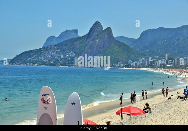 Ipanema beach Rio de Janeiro Brazil South America - Stock Image