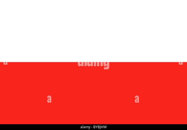 Poland flag illustration - Stock Image