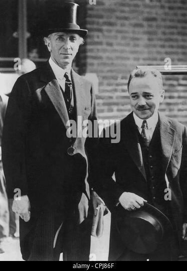 Engelbert Dollfuss with Baron Franchastein, 1932 - Stock Image