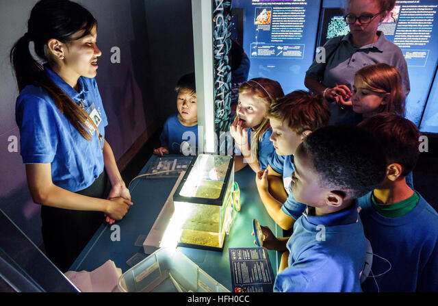 Manhattan New York City NYC NY Upper West Side American Museum of Natural History Hall of Ocean Life interactive - Stock Image
