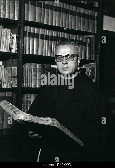 Mar. 27, 2012 - De Gaulle Supported Pope John's Sainthood. Gen. Charles De Gaulle, shortly before his death - Stock Image