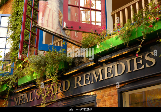 Neal 39 s yard remedies stock photos neal 39 s yard remedies for Cafe de jardin in covent garden