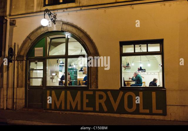Immervol restaurant, Vienna Austria - Stock-Bilder