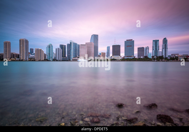 Miami, Florida, USA skyline at Biscayne Bay. - Stock Image