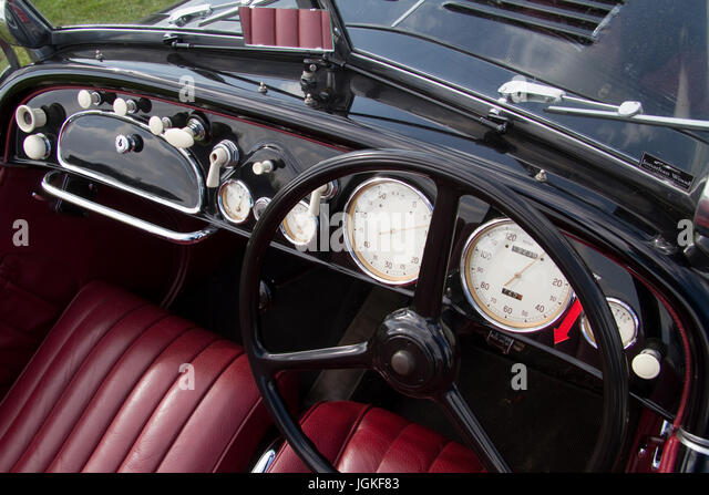 Interior detail of a vintage BMW - Stock Image