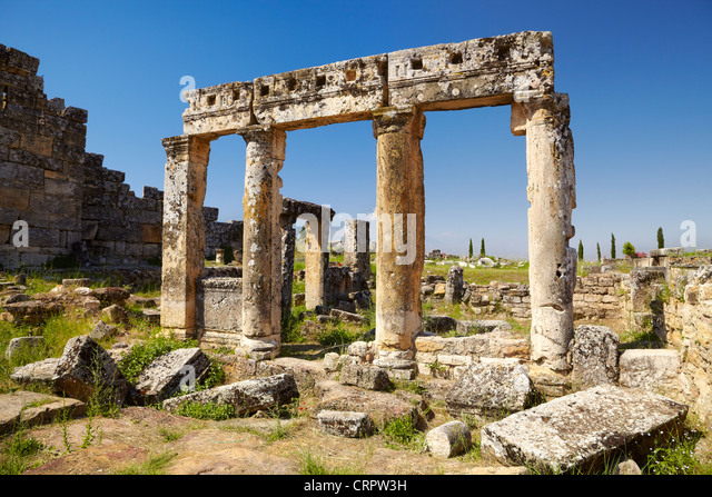Hierapolis - Turkey, ruins of the ancient city, UNESCO - Stock Image