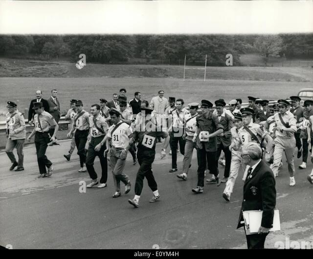 Sep. 09, 1970 - International Postmen's Road walking Championships at Crystal Palace Sports Centre.: The last - Stock Image