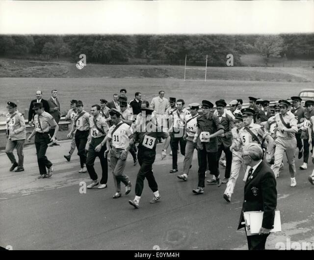 Sep. 09, 1970 - International Postmen's Road walking Championships at Crystal Palace Sports Centre.: The last - Stock Image