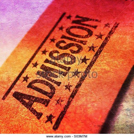 Admission Ticket - Stock Image