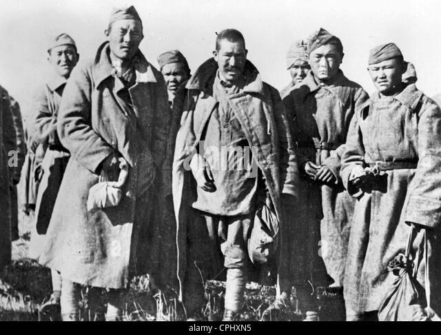 Soviet prisoners of war, 1943 - Stock Image