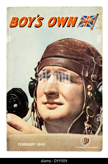 February 1943 edition of 'Boy's Own Paper' magazine. Published by Lutterworth Press - Stock Image