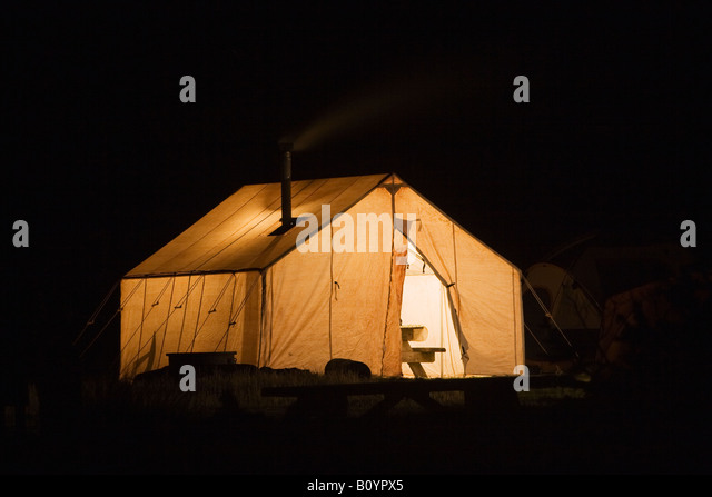 Canvas tent Northern California United States - Stock-Bilder