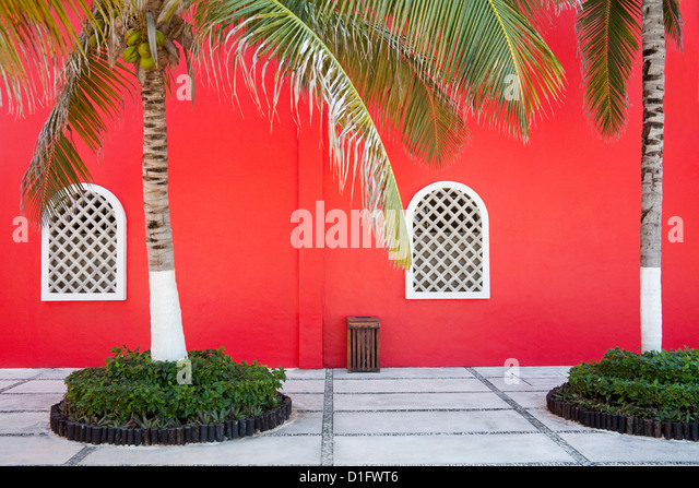 Architectural detail in Costa Maya port, Quintana Roo, Mexico, North America - Stock-Bilder