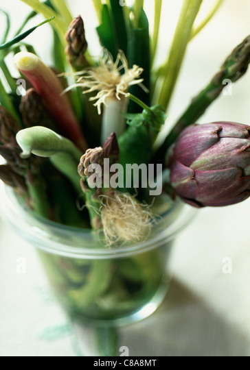 Bunch of spring vegetables - Stock-Bilder