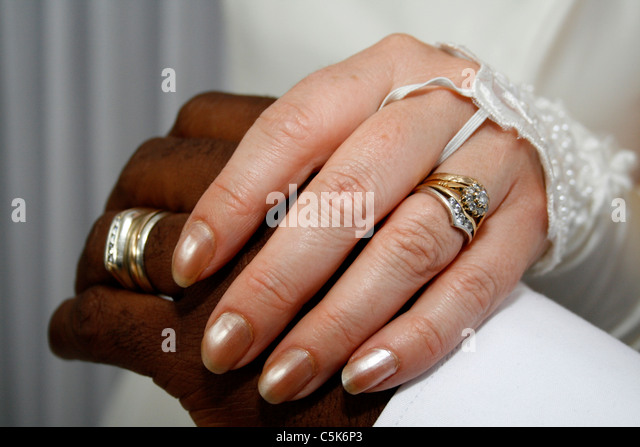 Interracial wedding ring