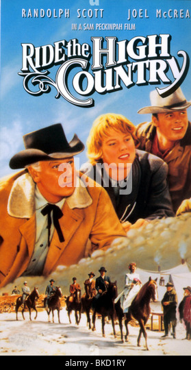 GUNS IN THE AFTERNOON (1962) RIDE THE HIGH COUNTRY POSTER GITA 001VS - Stock Image