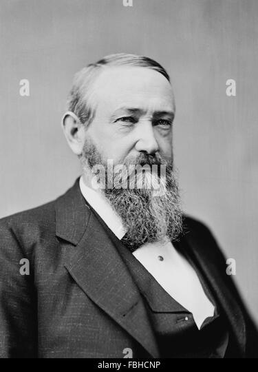 Benjamin Harrison, portrait of the 23rd US President, taken between 1870 and 1880 - Stock Image