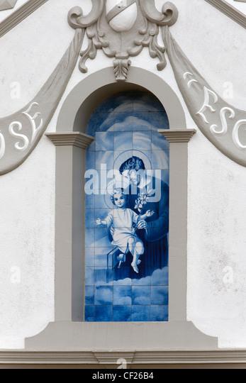 Church picture / Camacha, Madeira - Stock Image