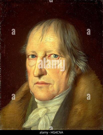 Hegel, Georg Wilhelm Friedrich Hegel, German philosopher - Stock Image