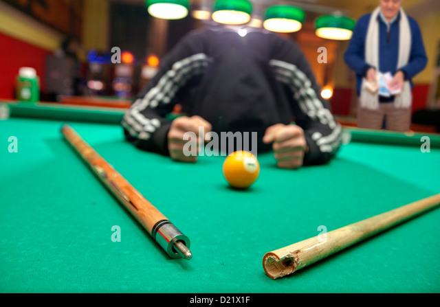 Loosing at pool - Stock Image