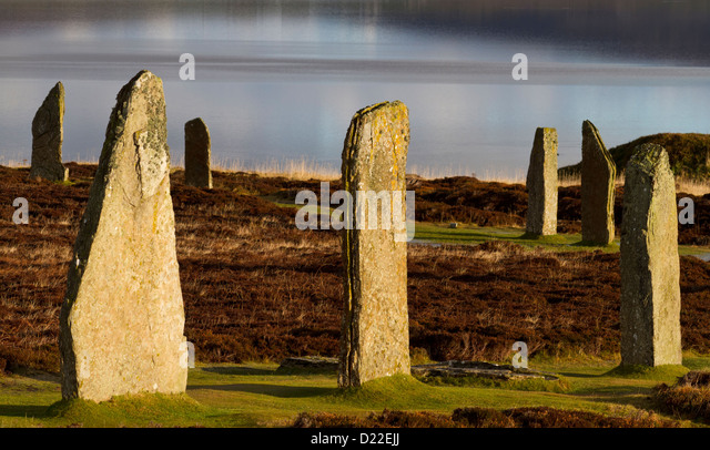 Ring of Brodgar stone circle, Orkney isles - Stock Image