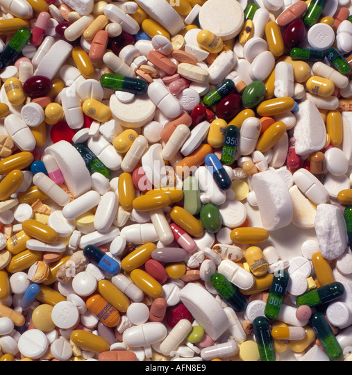 medicine pills. Photo by Willy Matheisl - Stock Image